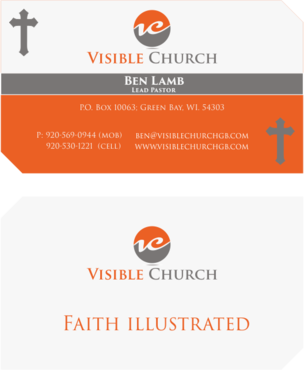Visible Church Business Cards and Stationery  Draft # 133 by davidGraphics