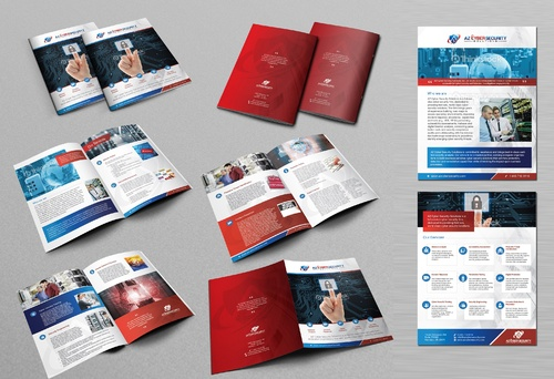 Design, a single page and multi-page brochure Marketing collateral Winning Design by Achiver