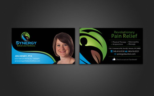 1 used for various health professionals, Another generic card, similar style for company promotion