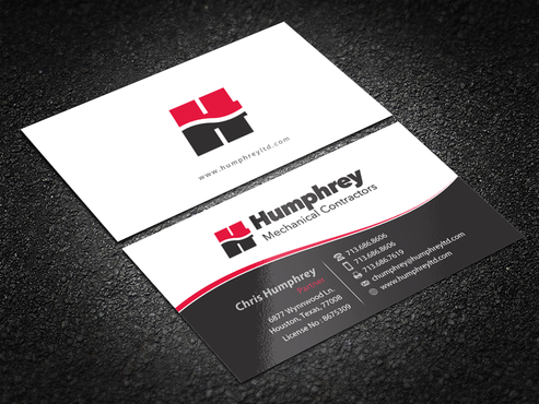 Humphrey MECHANICAL CONTRACTORS Business Cards and Stationery Winning Design by einsanimation