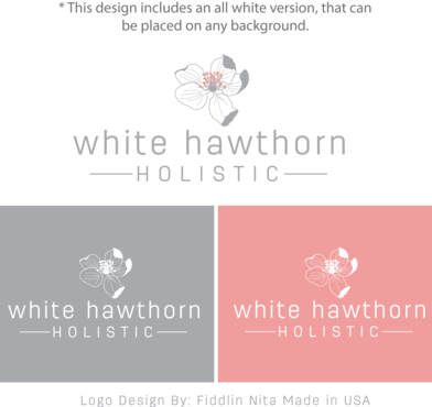 white hawthorn holistic A Logo, Monogram, or Icon  Draft # 278 by FiddlinNita