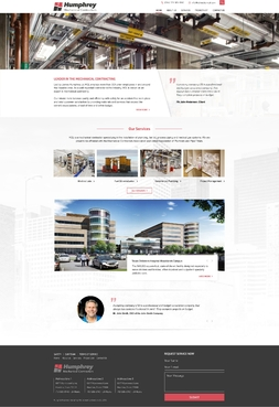 Humphrey Commercial Contractors Complete Web Design Solution  Draft # 102 by 2xgraaf