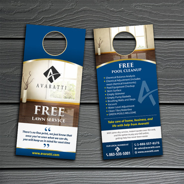 Sleek Promotional Insert for Door Hanger Marketing collateral  Draft # 11 by Kaiza