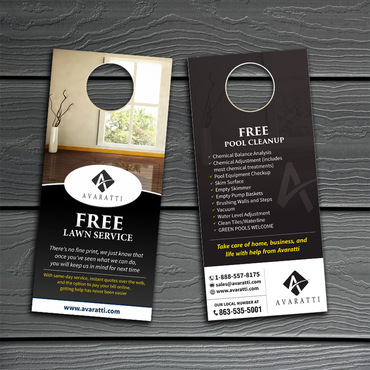 Sleek Promotional Insert for Door Hanger Marketing collateral  Draft # 12 by Kaiza