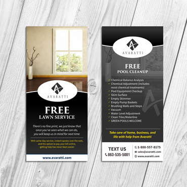 Sleek Promotional Insert for Door Hanger Marketing collateral  Draft # 21 by Kaiza