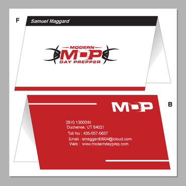 Modern Day Prepper Business Cards and Stationery  Draft # 109 by maskman