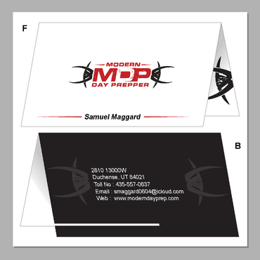 Modern Day Prepper Business Cards and Stationery  Draft # 110 by maskman