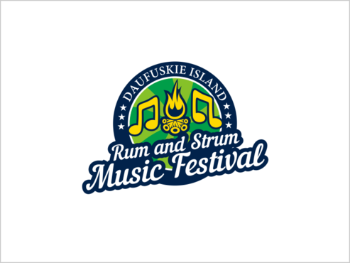 Daufuskie Island Rum and Strum Music Festival A Logo, Monogram, or Icon  Draft # 8 by thebullet