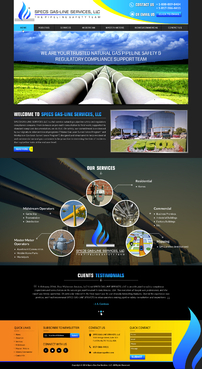 WEBSITE DESIGN FOR A NATURAL GAS PIPELINE COMPLIANCE SERVICE COMPANY