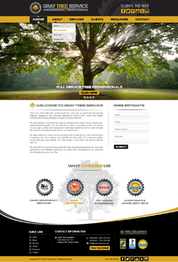 Gray Tree Service Complete Web Design Solution  Draft # 264 by mycrodesigns