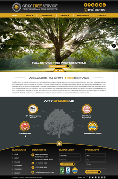 Gray Tree Service Complete Web Design Solution Winning Design by FuturisticDesign