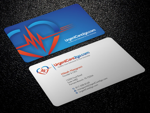 UrgentCare2go.com Business Cards and Stationery  Draft # 86 by Xpert