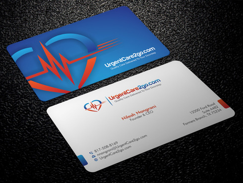 UrgentCare2go.com Business Cards and Stationery  Draft # 88 by Xpert