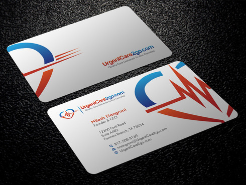 UrgentCare2go.com Business Cards and Stationery  Draft # 100 by Xpert