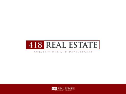 418 Real Estate A Logo, Monogram, or Icon  Draft # 116 by Chlong2x