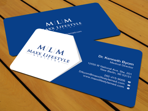 Cash-based cutting edge lifestyle medicineclinic Business Cards and Stationery Winning Design by waterdropdesign