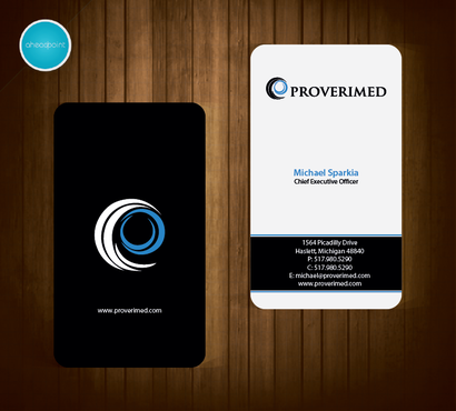 Verification Website Business Cards and Stationery  Draft # 47 by aheadpoint