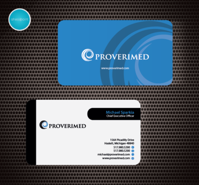 Verification Website Business Cards and Stationery  Draft # 50 by aheadpoint