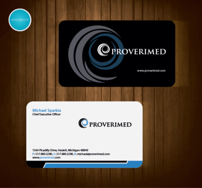 Verification Website Business Cards and Stationery  Draft # 53 by aheadpoint