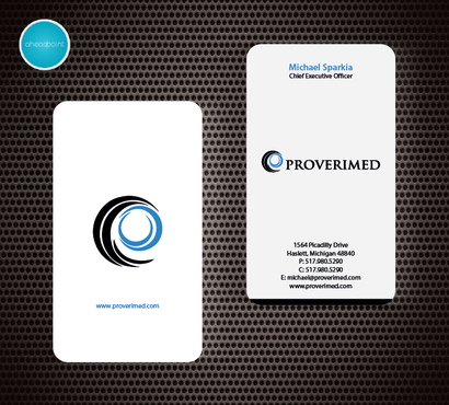 Verification Website Business Cards and Stationery  Draft # 83 by aheadpoint