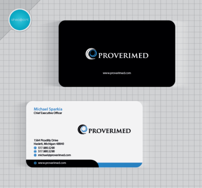 Verification Website Business Cards and Stationery  Draft # 88 by aheadpoint