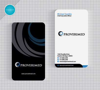 Verification Website Business Cards and Stationery  Draft # 89 by aheadpoint