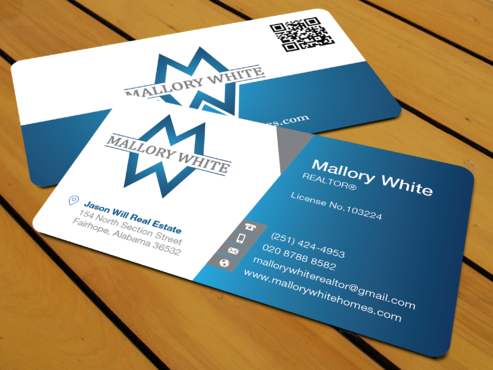 Mallory White or MW Business Cards and Stationery  Draft # 90 by waterdropdesign