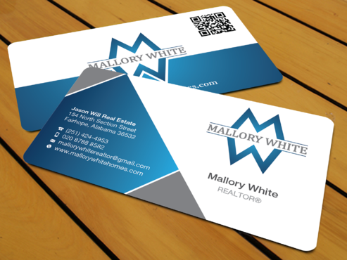 Mallory White or MW Business Cards and Stationery  Draft # 91 by waterdropdesign