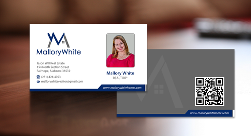 Mallory White or MW Business Cards and Stationery  Draft # 92 by einsanimation