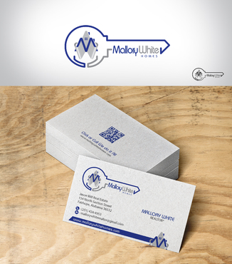 Mallory White or MW Business Cards and Stationery  Draft # 160 by designbe