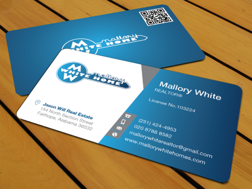 Mallory White or MW Business Cards and Stationery  Draft # 195 by waterdropdesign