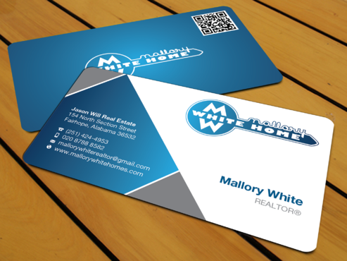 Mallory White or MW Business Cards and Stationery  Draft # 196 by waterdropdesign