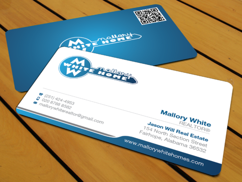 Mallory White or MW Business Cards and Stationery  Draft # 197 by waterdropdesign