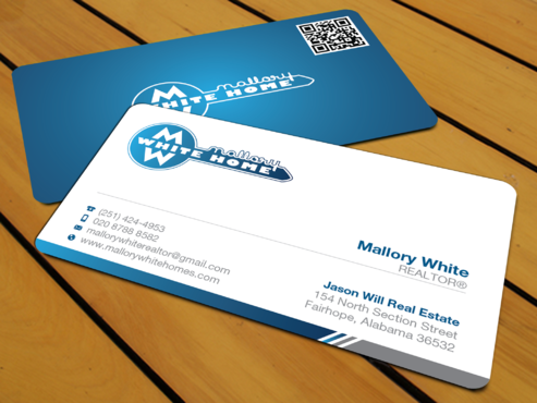 Mallory White or MW Business Cards and Stationery  Draft # 198 by waterdropdesign