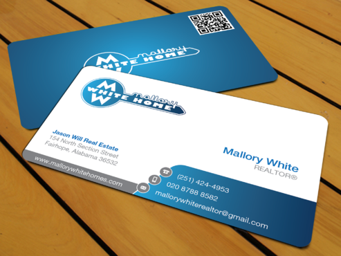 Mallory White or MW Business Cards and Stationery  Draft # 199 by waterdropdesign