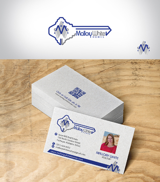 Mallory White or MW Business Cards and Stationery  Draft # 200 by designbe