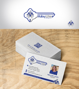 Mallory White or MW Business Cards and Stationery  Draft # 201 by designbe