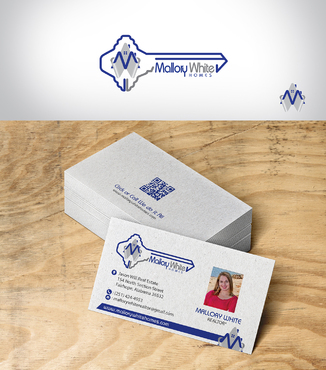 Mallory White or MW Business Cards and Stationery  Draft # 222 by designbe