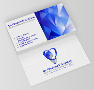 Dr. Frederick Gustave, Oral and Maxillofacial Surgery, with an emphasis on dental implants Business Cards and Stationery Winning Design by fawwaz