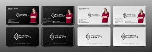 Mallory White or MW Business Cards and Stationery Winning Design by Gomizska