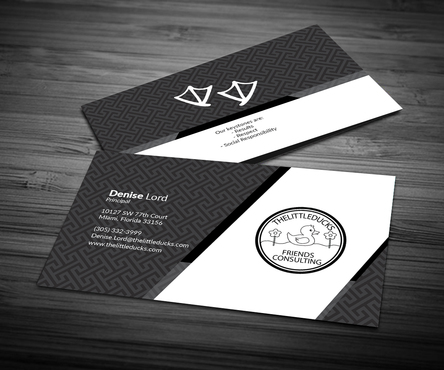 The Little Ducks and Friends Consulting Business Cards and Stationery  Draft # 6 by OSSDesign