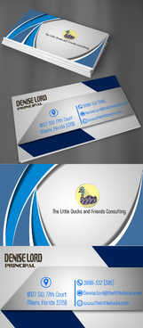 The Little Ducks and Friends Consulting Business Cards and Stationery  Draft # 8 by takyeddine