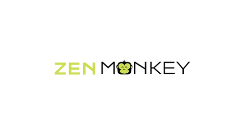 Zen Monkey Logo Winning Design by shivabomma