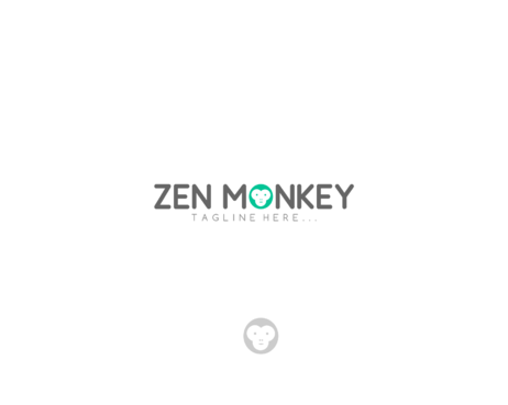 Zen Monkey A Logo, Monogram, or Icon  Draft # 345 by AlphaCeph