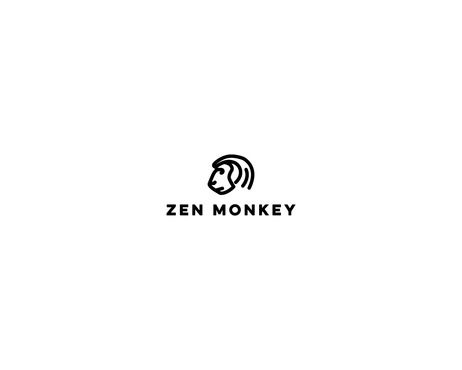 Zen Monkey A Logo, Monogram, or Icon  Draft # 520 by Bushman