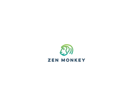Zen Monkey A Logo, Monogram, or Icon  Draft # 521 by Bushman