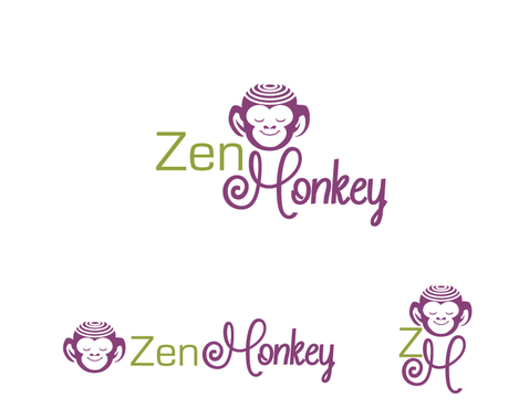 Zen Monkey A Logo, Monogram, or Icon  Draft # 550 by charmedeyes