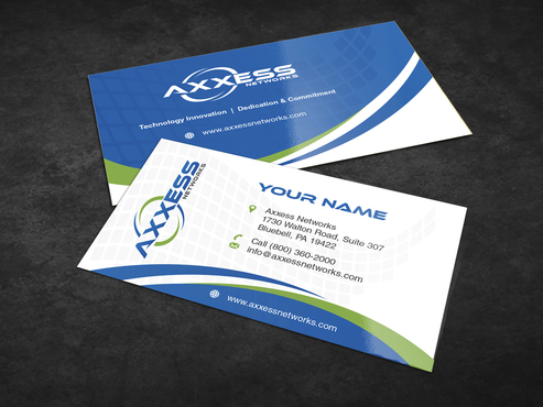 Axxess Networks Business Cards and Stationery  Draft # 123 by Achiver