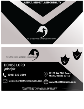 The Little Ducks and Friends Consulting Business Cards and Stationery  Draft # 14 by sajjadnazarian1214