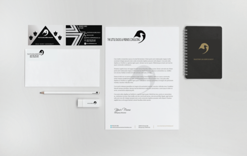 The Little Ducks and Friends Consulting Business Cards and Stationery Winning Design by sajjadnazarian1214
